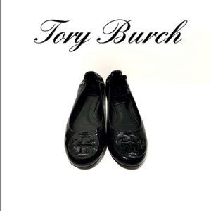 🌻Tory Burch Black Reva Patent Leather Flats